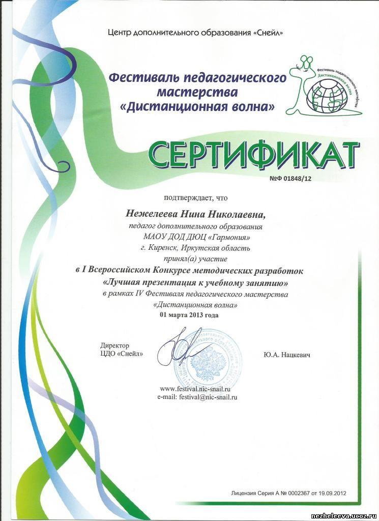 Международный конкурс дистанционная волна